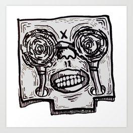 Mr. K descend into hell. Art Print