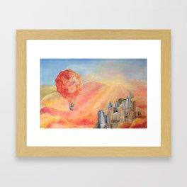 Hot Air Bloom Framed Art Print