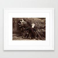 oscar wilde Framed Art Prints featuring Oscar Wilde by TilenHrovatic