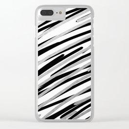 Zippy Zebra Stripes Clear iPhone Case