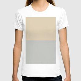 Benjamin Moore 2019 Color of Year Metropolitan & Putnam Ivory Cream Bold Horizontal Stripes T-shirt
