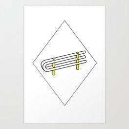 Impossible rail Art Print