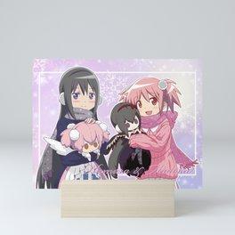 Madoka Kaname and Akemi Homura Mini Art Print