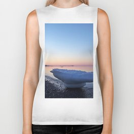 Icebergs on the Beach Biker Tank
