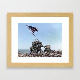 Iwo Jima Color Framed Art Print