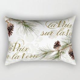 La Paix sur la Terre, Peace on Earth Rectangular Pillow