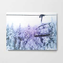 chairlift Metal Print