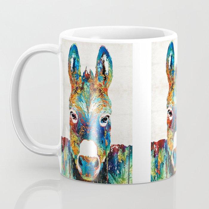 Colorful Donkey Art - Mr. Personality - By Sharon Cummings Coffee Mug