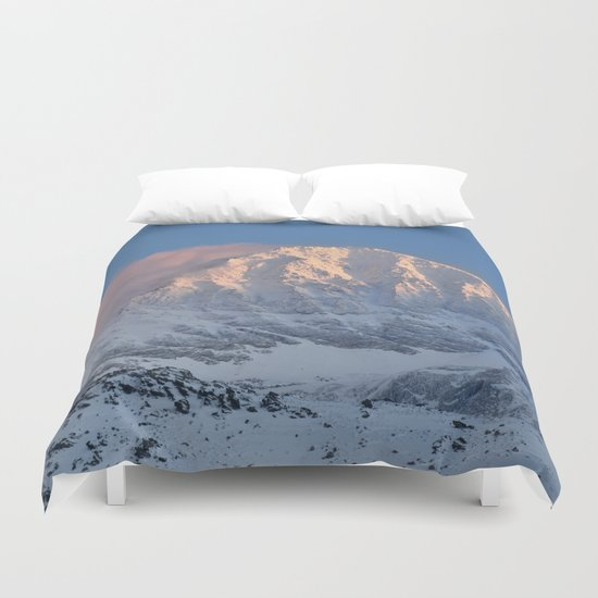 Mulhacen 3479 meters at sunset Duvet Cover