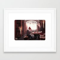 library Framed Art Prints featuring Library by Galaxyspeaking