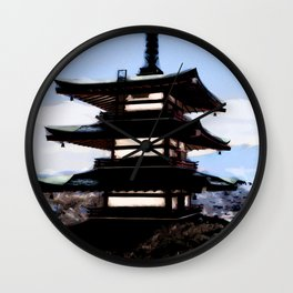 Japanese Landscape Wall Clock