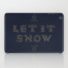 Let it Snow – Navy iPad Case