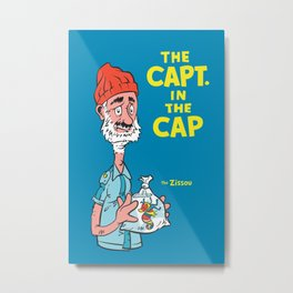 The Capt. In The Cap Metal Print