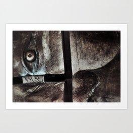 bronze eye Art Print