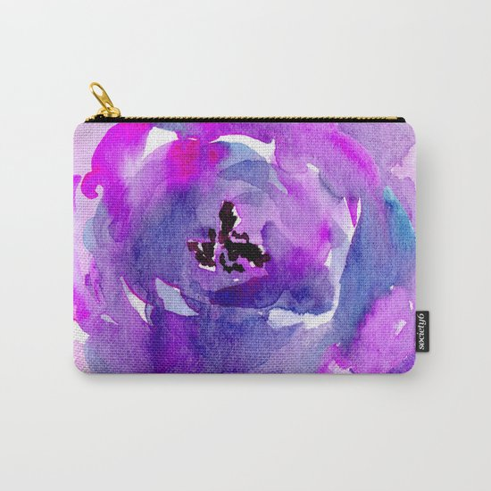 Purple pink flower Carry-All Pouch