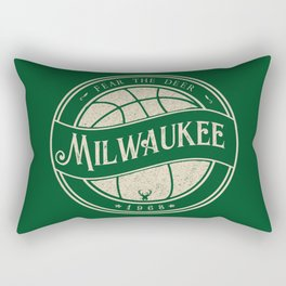 Milwaukee basketball green vintage logo Rectangular Pillow