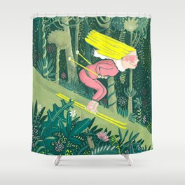 Spring in the jungle Shower Curtain