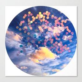 sparkle clouds Canvas Print