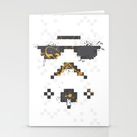 8 bit Stationery Cards featuring 8-bit Trooper by Sitchko Igor