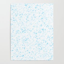 Marble Blue Poster