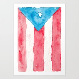 Puerto Rico Watercolour Art Print