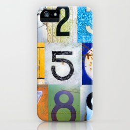 1,2,3,4,5,6,7,8,9 All The Numbers! In A Row! iPhone Case