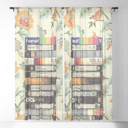 VHS & Entry Hall Wallpaper Sheer Curtain