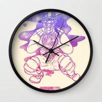 dreamcatcher Wall Clocks featuring Dreamcatcher by Jonah Makes Artstuff