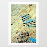 stairway to sea Art Print