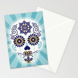 Día de Muertos • Mexican Sugar Skull – Baby Blue Palette Stationery Cards