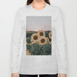sunflowers / sunset Long Sleeve T-shirt