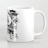 anarchy Mugs featuring Anarchy scream by Tshirt-Factory
