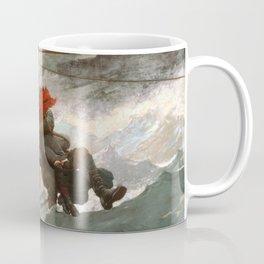 The Life Line by Winslow Homer, 1884 Coffee Mug