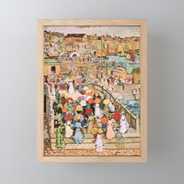 Maurice Brazil Prendergast - Ponte Della Paglia - Digital Remastered Edition Framed Mini Art Print