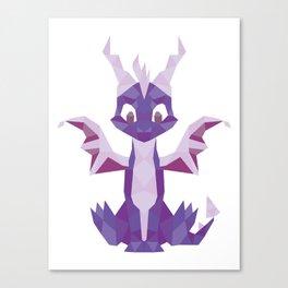 Spyro the dragon Lowpoly Canvas Print