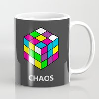 chaos Mugs featuring Chaos by Dizzy Moments