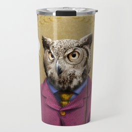 "Mr. Owl says: ""HOOT Happens!"" Travel Mug"