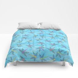 Sweet Dragonfly Skies Comforters