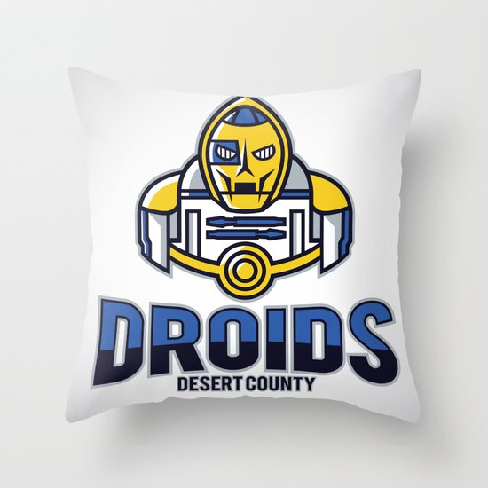 Desert County Droids Throw Pillow