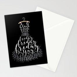 The Little Black Frid Dress Stationery Cards
