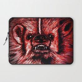Badger Bad Red Laptop Sleeve