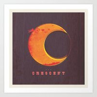 C is for Crescent  Art Print