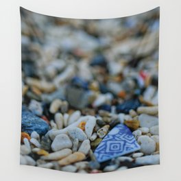 Sea Washed Blue China Wall Tapestry