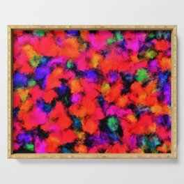 Bright Rainbow Colors Serving Tray