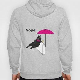 Nope Lazy Cat T-Shirt Hoody