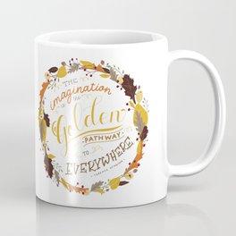 Golden Imagination Fall Quote Coffee Mug