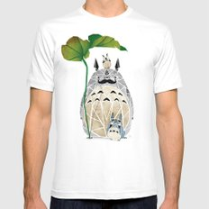 totoro moustache White Mens Fitted Tee LARGE