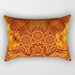 Fire Elemental Temple Rectangular Pillow