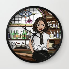 Roni inside Roni's Bar & Grill - Once Upon A Time Wall Clock