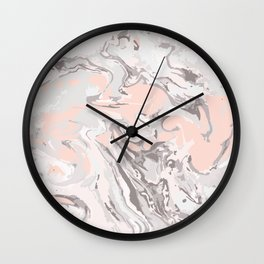 Effect Marble pink Wall Clock